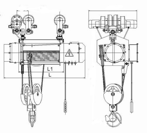 Конструкция электрической тали