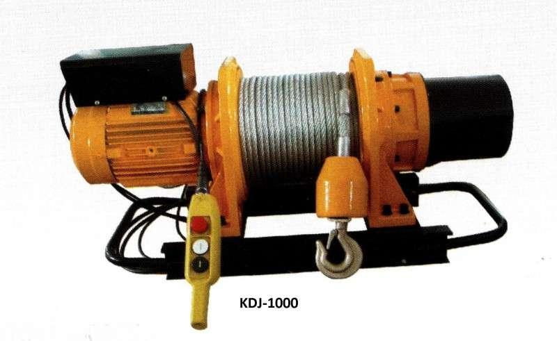 купить надежную лебедку электрическую KDJ-1000 недорого