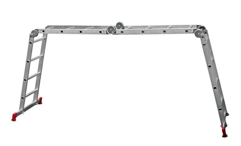 алюминиевая раздвижная лестница трансформер 4х5