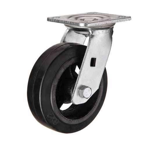 купить колесная опора большегрузная обрезиненная поворотная 125 мм недорого