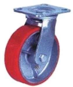 купить колесная опора большегрузная поворотная (полиуретан) 200 мм недорого