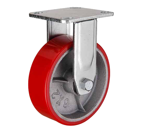 купить колесная опора большегрузная неповоротная (полиуретан) 75 мм недорого