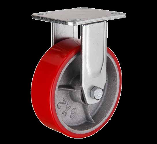 купить колесная опора большегрузная неповоротная (полиуретан) 200 мм по низким ценам