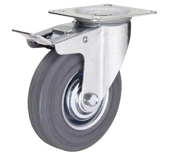купить колесная опора промышленная поворотная с тормозом 200 мм недорого