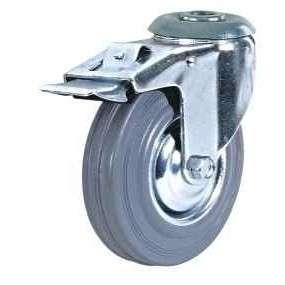 купить колесная опора промышленная поворотная под болт c тормозом 200 мм недорого