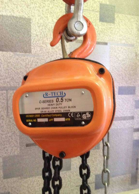 таль ручная шестеренная марки R-tech 0,5 тн высота 12 м