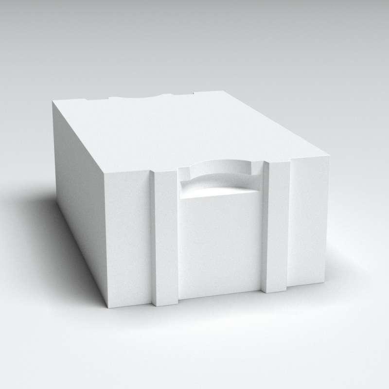 Блок стеновой из газобетона Б4 D500/B2.5