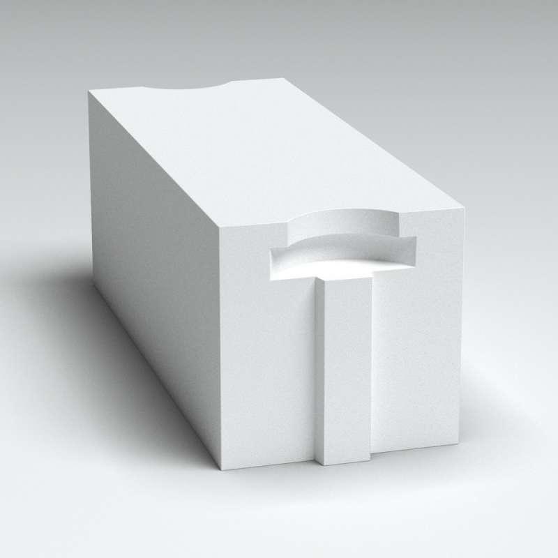 Блок стеновой из газобетона Б2,4 D500/B2.5