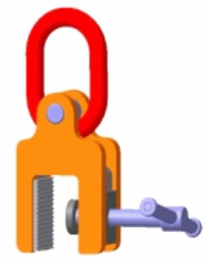 Захват-струбцина вертикальный НК10-1,5 тн