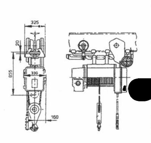 тельфер 1 тн схема
