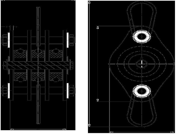Полиспаст-блок 200 кг 3 ролика