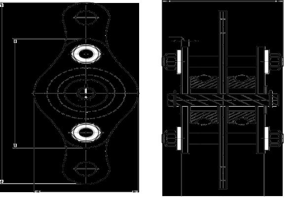 Полиспаст-блок 200 кг 2 ролика