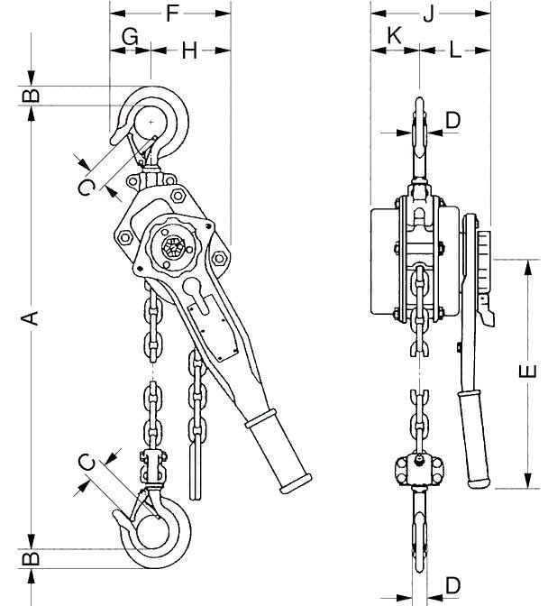 ТРШСк 0,5 тн подъем 3 м
