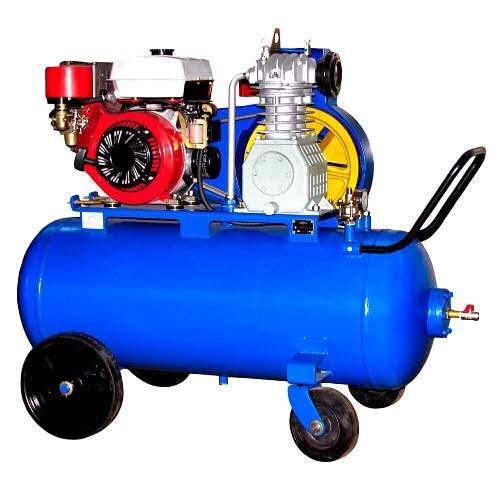 Компрессор поршневой промышленный с приводом от бензинового и дизельного двигателя КБ-8.