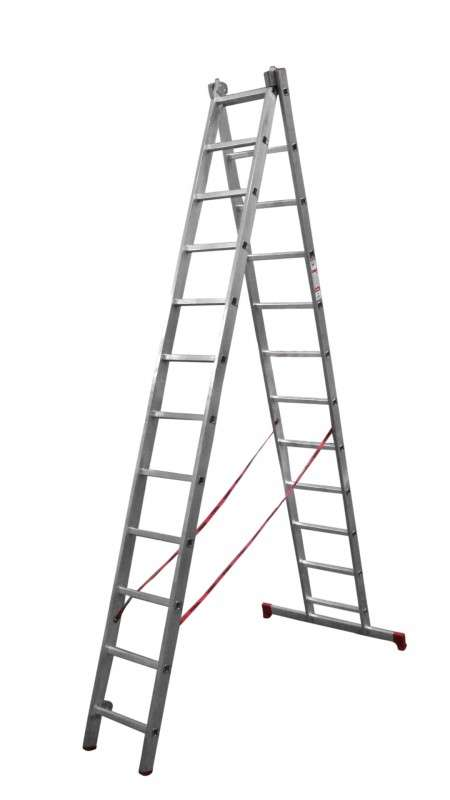 Лестница 2-секционная  2*10 алюминиевая раздвижная