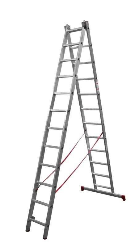 Лестница 2-секционная  2*14 алюминиевая раздвижная
