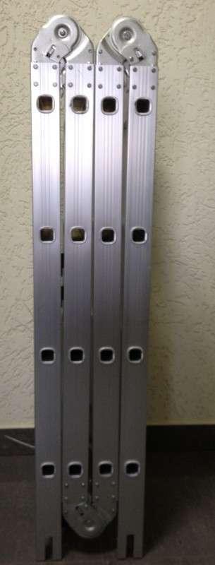 алюминиевая раздвижная лестница трансформер 4х4