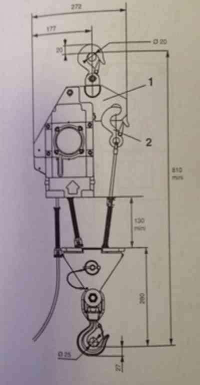 Блок для Minifor TR30S/TR50 - схема крепления